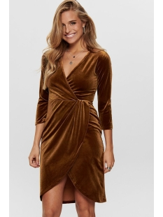 Jacqueline de Yong Jurk JDYSANDY 3/4 WRAP DRESS JRS EXP 15150001 Caramel Café