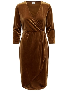 jdysandy 3/4 wrap dress jrs exp 15150001 jacqueline de yong jurk caramel café
