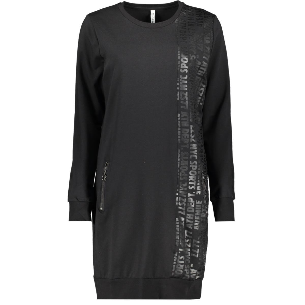 nina sweat dress with print 195 zoso jurk black