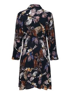 jdyollie 7/8 shirt dress wvn 15194305 jacqueline de yong jurk black/bird