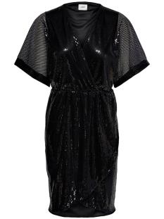Jacqueline de Yong Jurk JDYPIXIE S/S WRAP DRESS WVN EXP 15194746 Black/BLACK SEQU