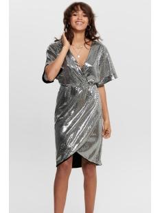 Jacqueline de Yong Jurk JDYPIXIE S/S WRAP DRESS WVN EXP 15194746 Black/SILVER SEQ