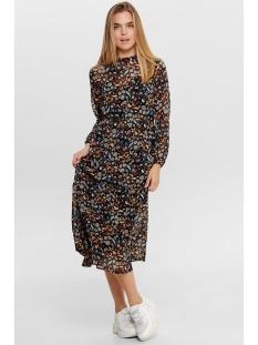 Jacqueline de Yong Jurk JDYOLIVIA L/S HIGH NECK LONG DRESS 15185619 Black/MULTI FLOW