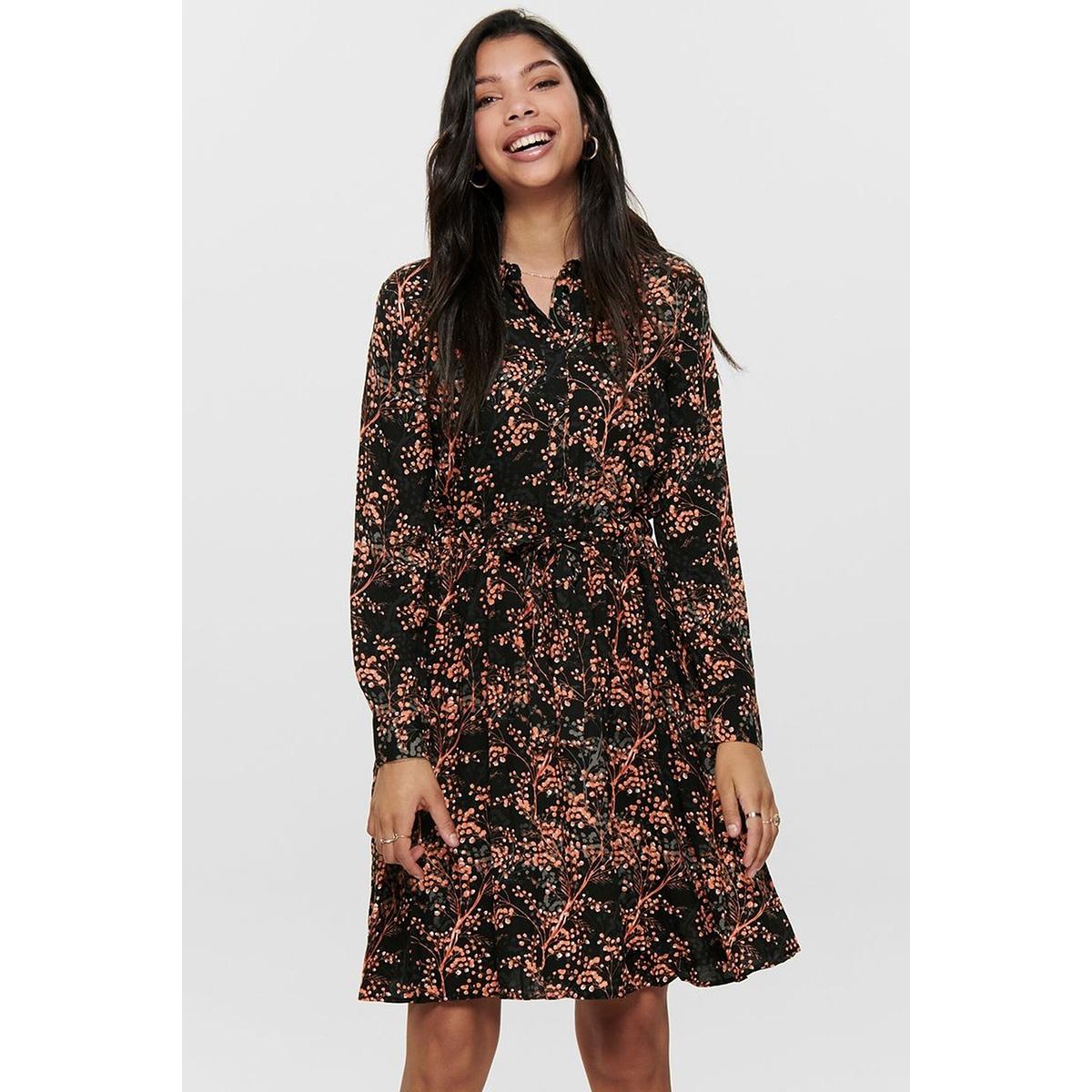 jdytrista l/s dress wvn exp 15186829 jacqueline de yong jurk black/autumn lea