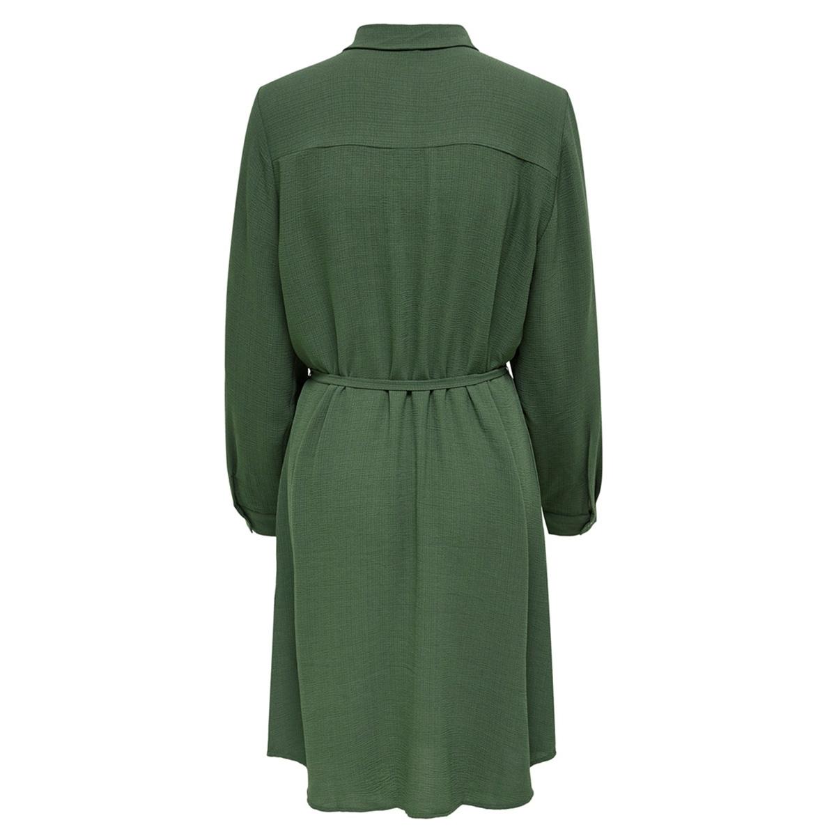 jdypaul l/s shirt dress wvn 15192585 jacqueline de yong jurk thyme