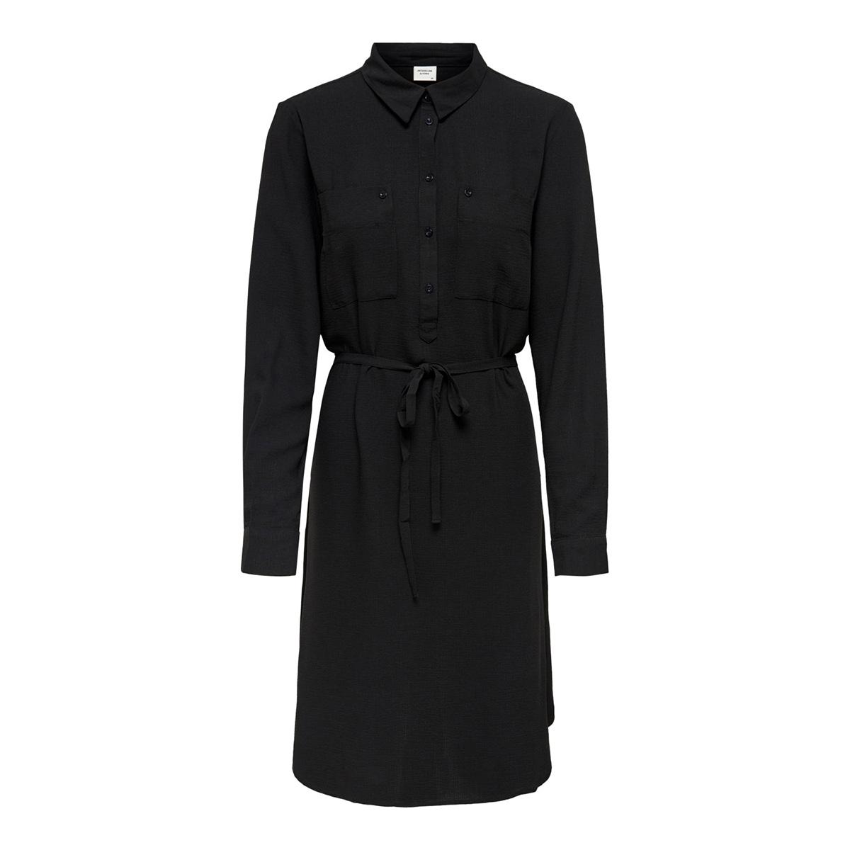 jdypaul l/s shirt dress wvn 15192585 jacqueline de yong jurk black