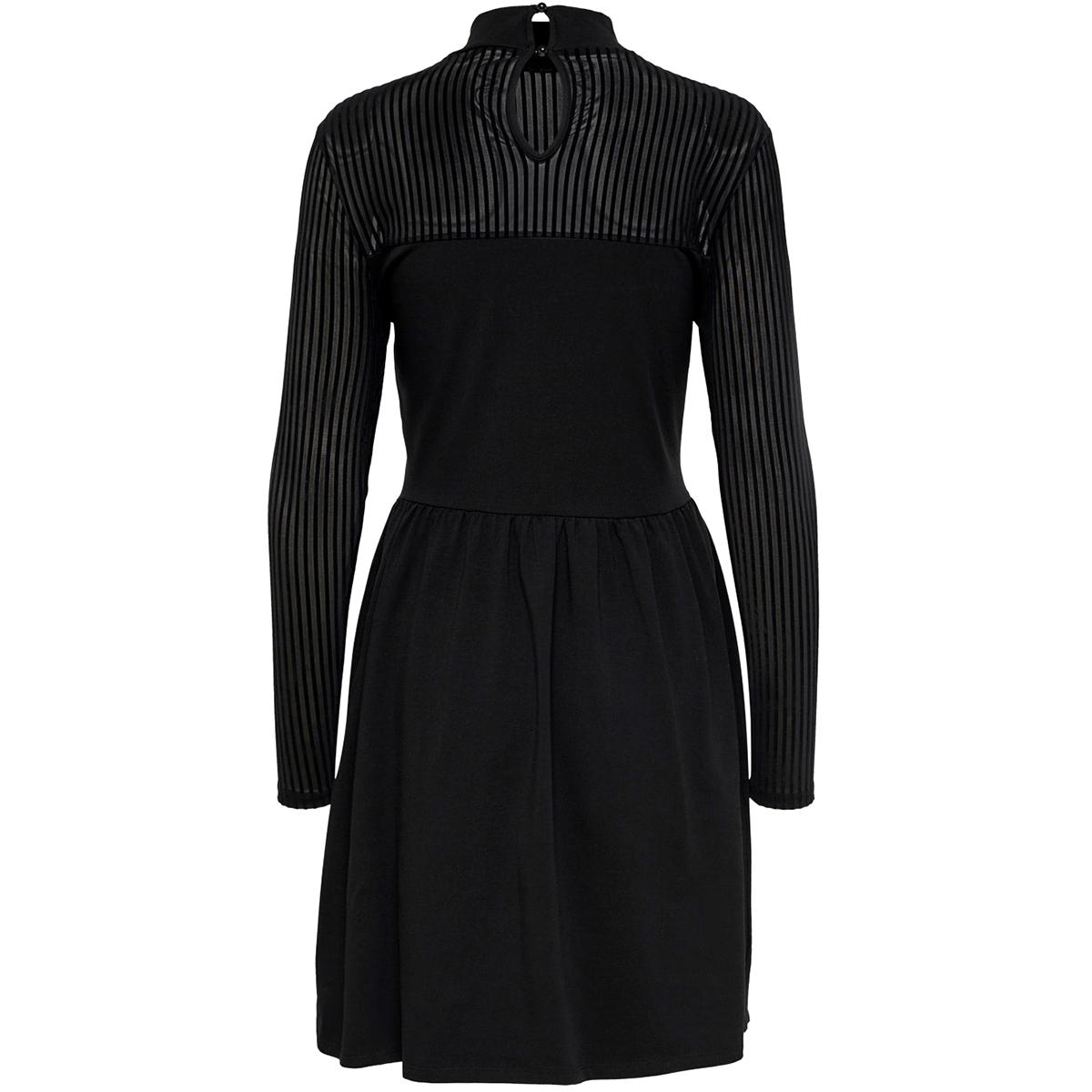 onlniella l/s dress jrs 15193132 only jurk black