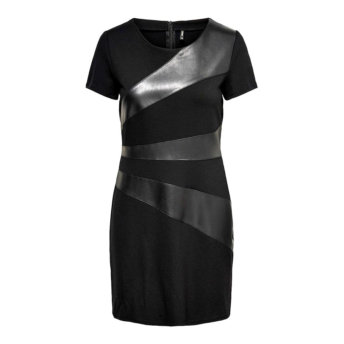 onldinas faux leather dress otw 15190952 only jurk black