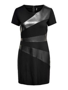 Only Jurk ONLDINAS FAUX LEATHER DRESS OTW 15190952 Black