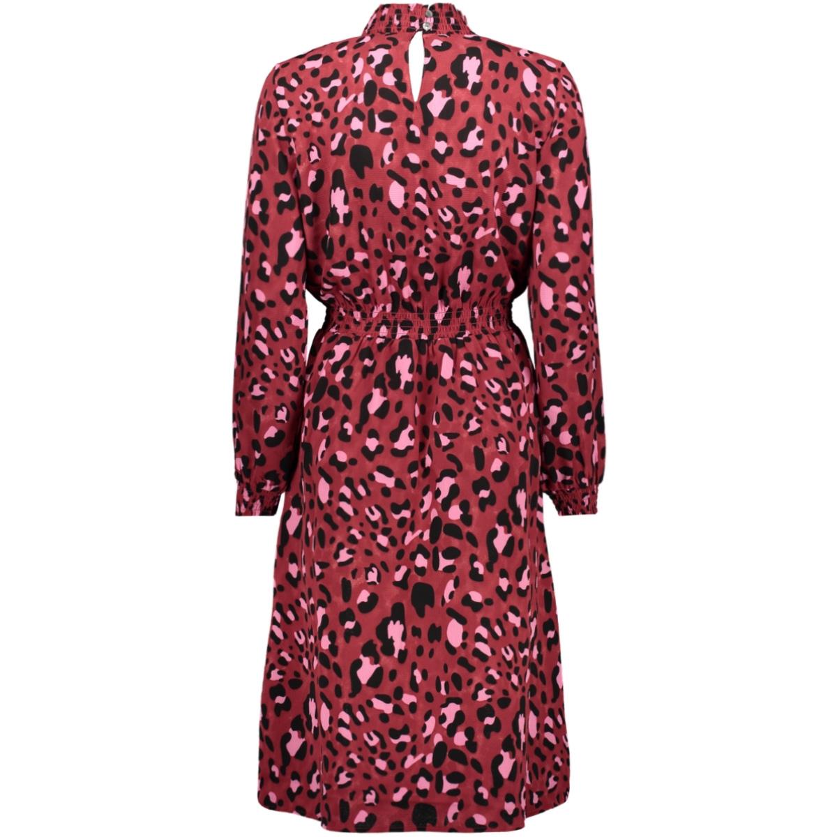 onlnova lux aop smock high dress 8 15198451 only jurk cordovan/bright leo