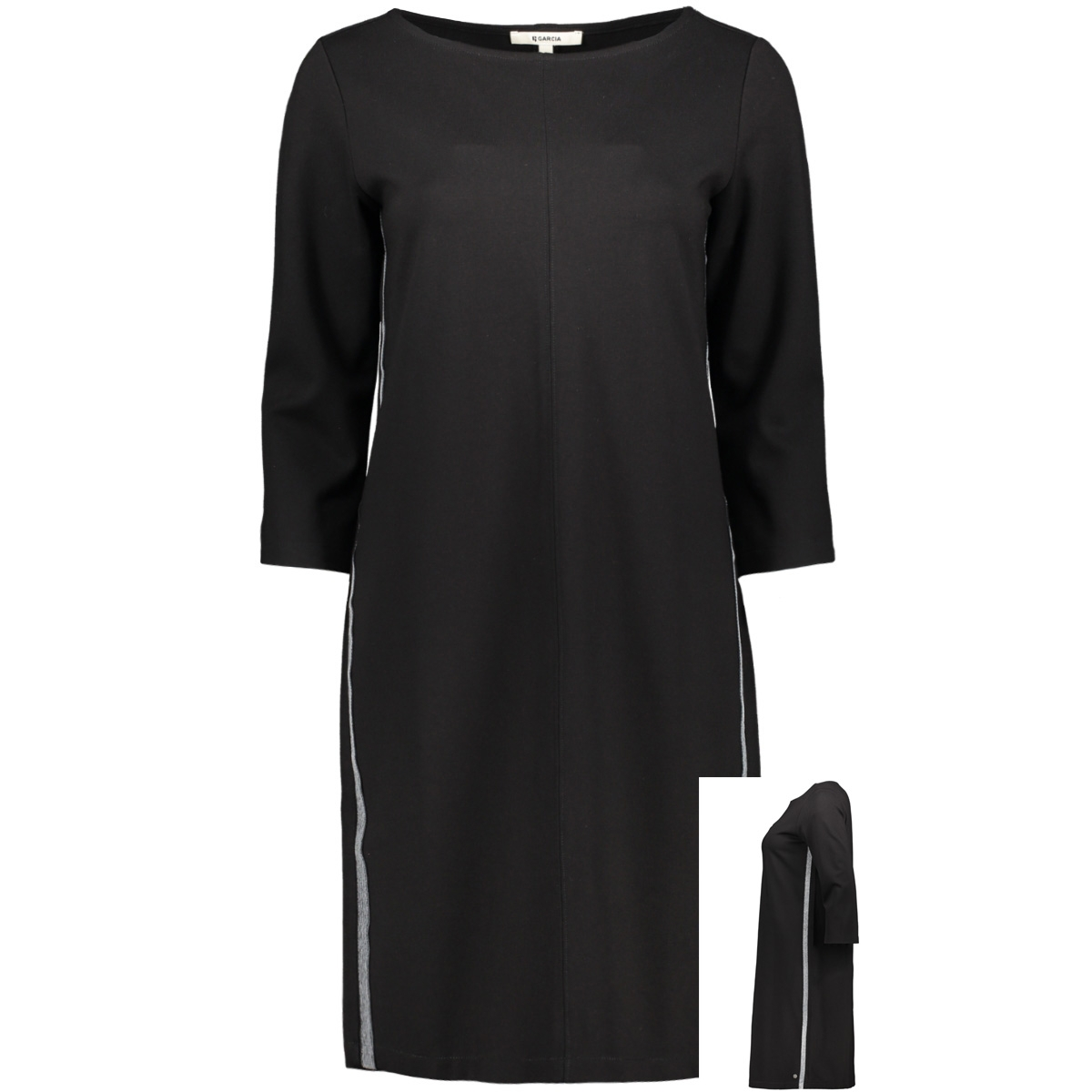 jurk met glitterstrepen k90080 garcia jurk 60 black