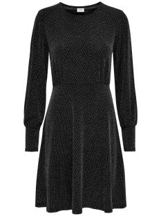 Jacqueline de Yong Jurk JDYFREI L/S CUFF DRESS JRS 15185958 Black/SILVER LUREX