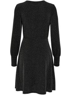 jdyfrei l/s cuff dress jrs 15185958 jacqueline de yong jurk black/silver lurex