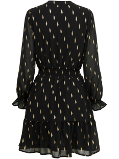 onlvera detail l/s dress wvn 15199478 only jurk black/foil print