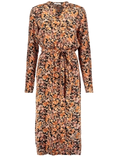 Pieces Jurk PCMINNA LS MIDI DRESS D2D 17104334 Exuberance/FLOWERS