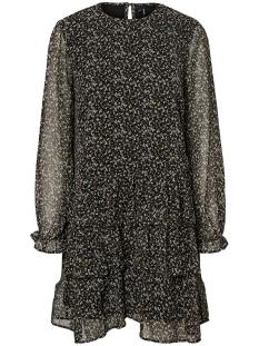 vmlulu l/s flounce short dress sb2 10229657 vero moda jurk black/lulu