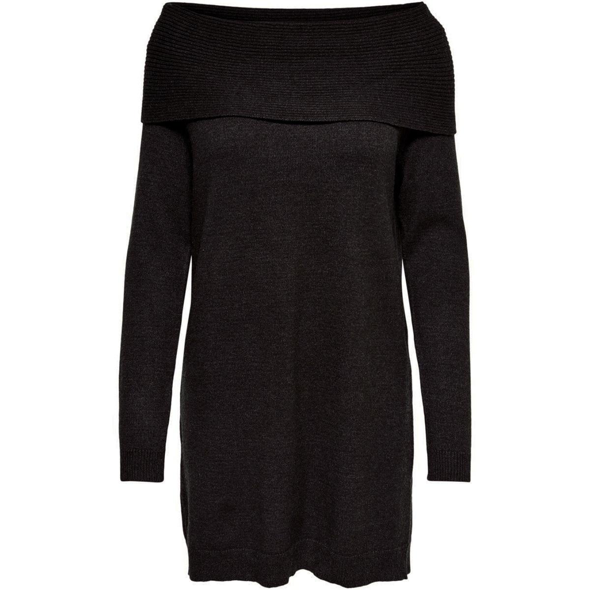 onlkaysa l/s cowlneck dress knt 15183568 only jurk black