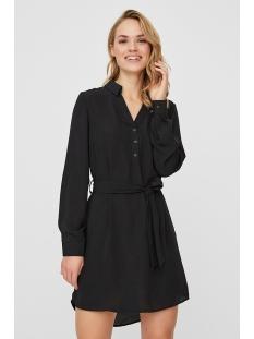 vmsine l/s short dress wvn bf 10220964 vero moda jurk black/solid