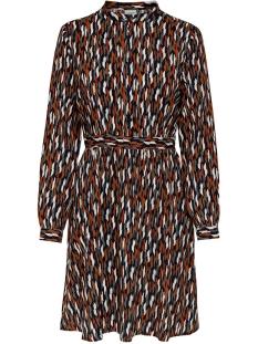 jdypeak l/s dress wvn 15193725 jacqueline de yong jurk black/geometric