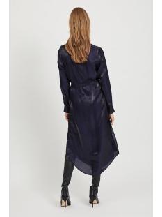 viglatanis l/s midi shirt  dress /g 14057372 vila jurk navy blazer