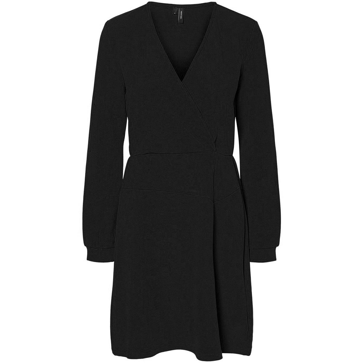 vmsana ls short dress jrs 10225658 vero moda jurk black