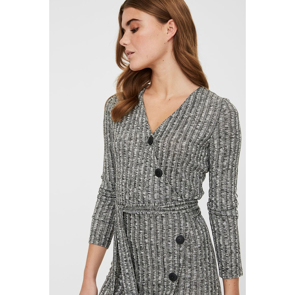 nmtyler l/s dress 27010437 noisy may jurk dark grey melange