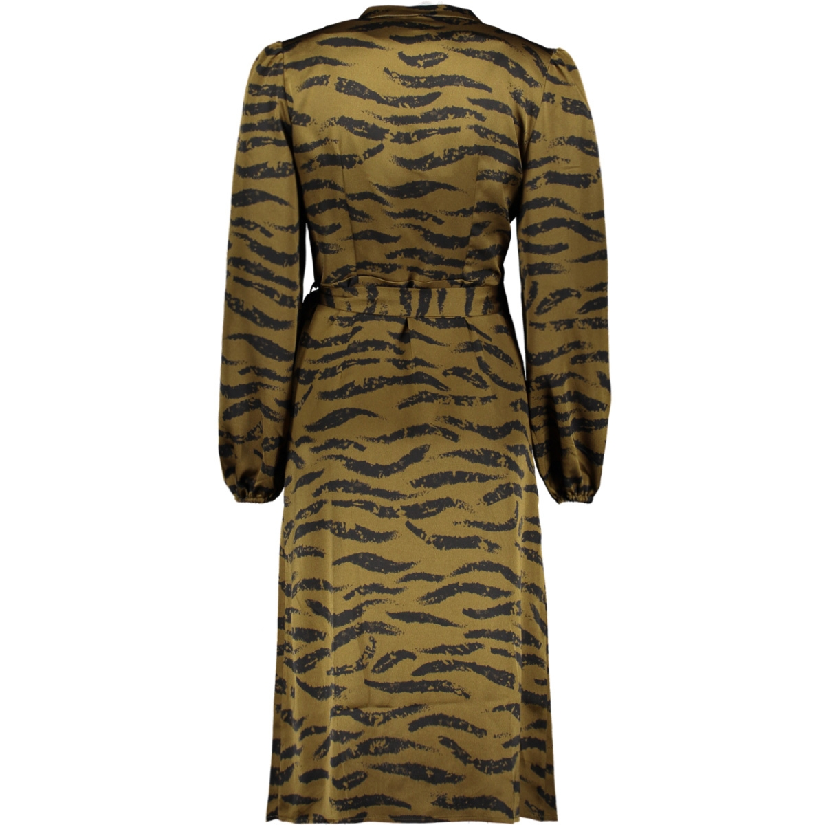 vmrina l/s wrap dress exp 10233079 vero moda jurk military olive/rina