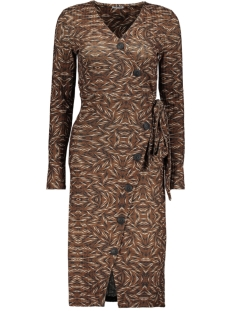 Noisy may Jurk NMTYLER L/S DRESS 27010437 Brown Sugar/BLACK