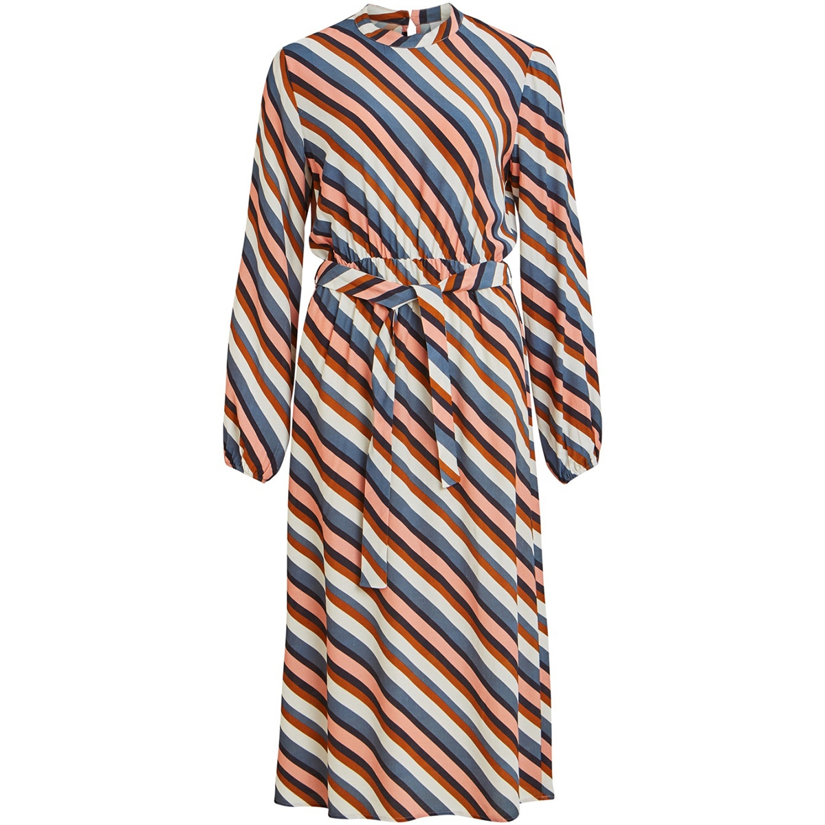 viansel l/s midi dress 14057696 vila jurk cloud dancer/multi