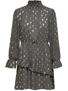 onluna  l/s smock dress wvn 15204928 only jurk black/w. dots an