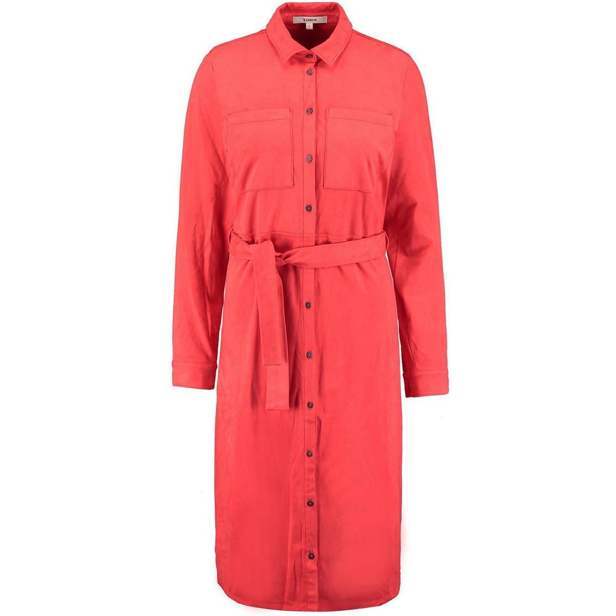 overhemdjurk l90081 garcia jurk 721 poppy red