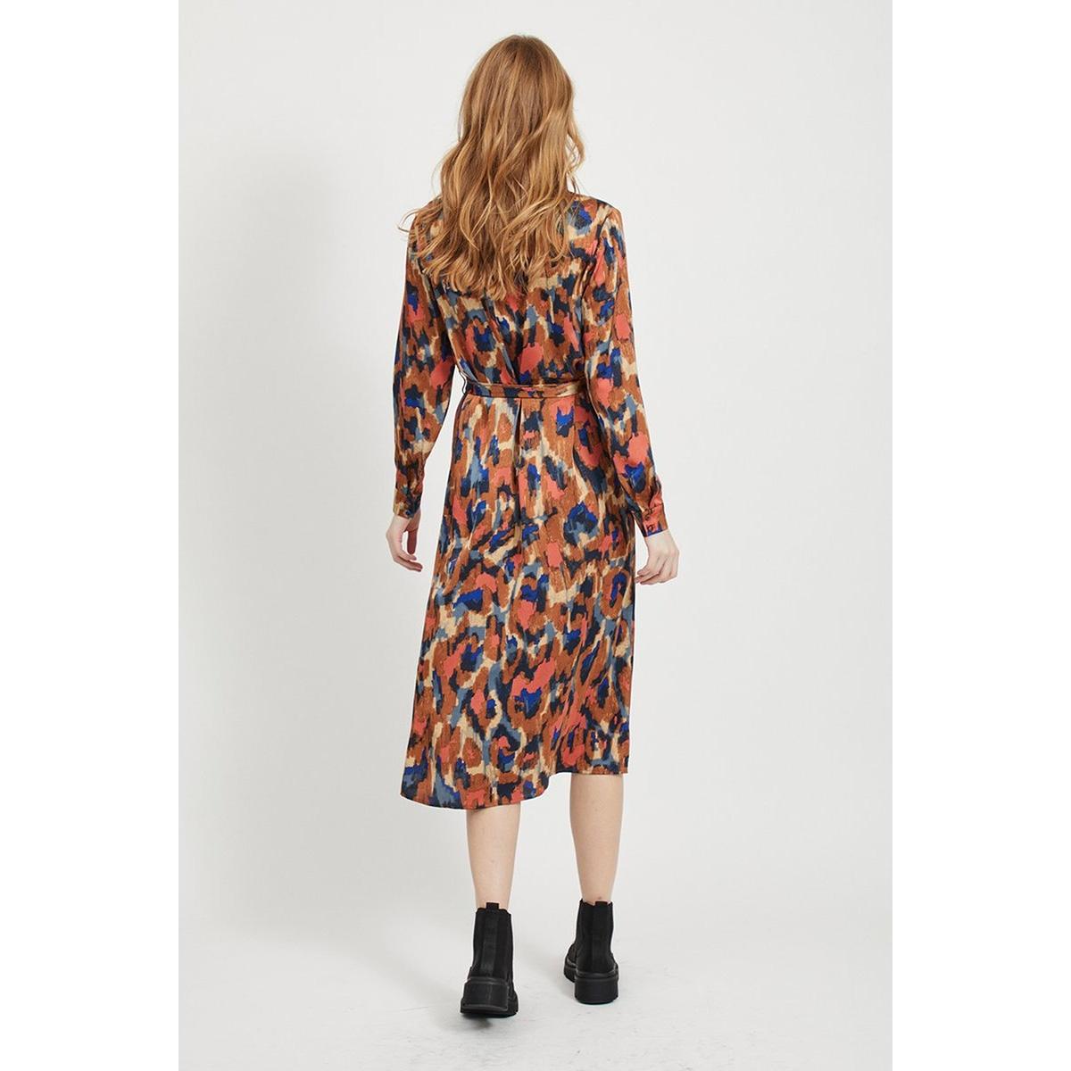 vijolie minda l/s shirt dress/l 14057825 vila jurk rawhide/minda
