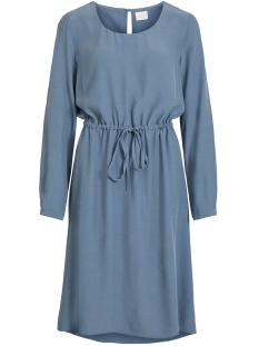 viprimera midi l/s dress-fav nx 14055394 vila jurk china blue