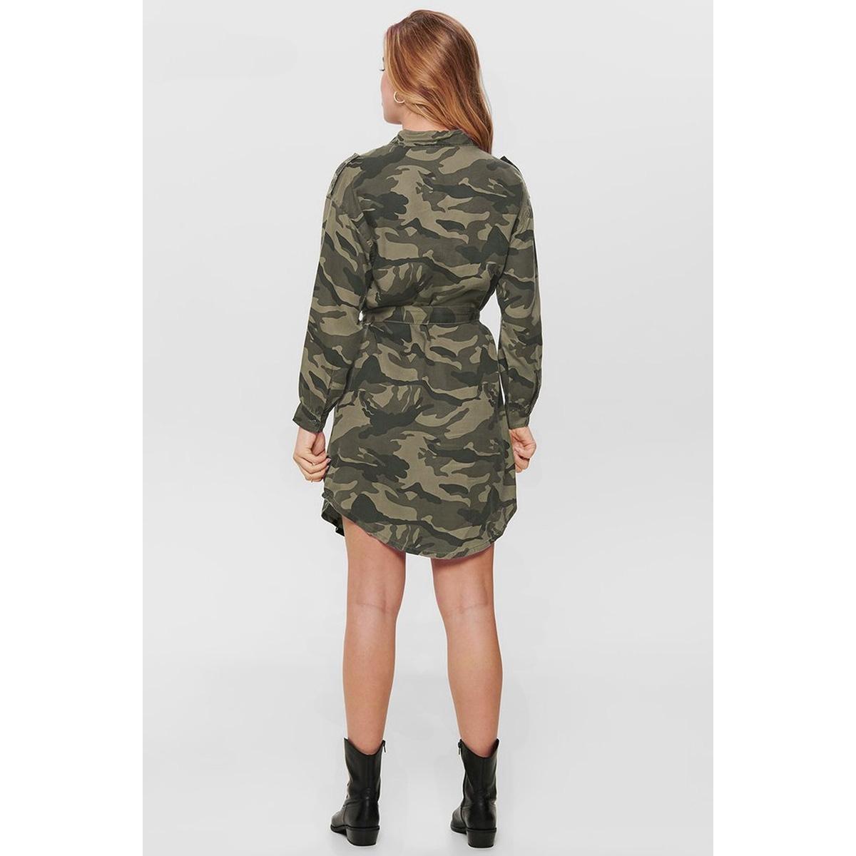 onluna oversized shirt dress wvn 15191753 only jurk kalamata/military