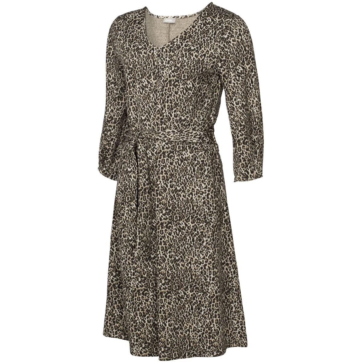 dress jacquard leopard 97555 geisha jurk sand combi