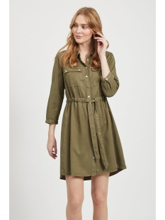 Object Jurk OBJJANA 3/4 SHIRT DRESS PB7 23031719 Burnt Olive
