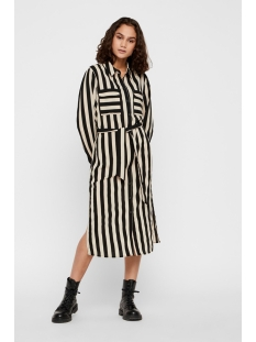 Noisy may Jurk NMWILL L/S SHIRT DRESS 27009802 Black/PEYNOTE