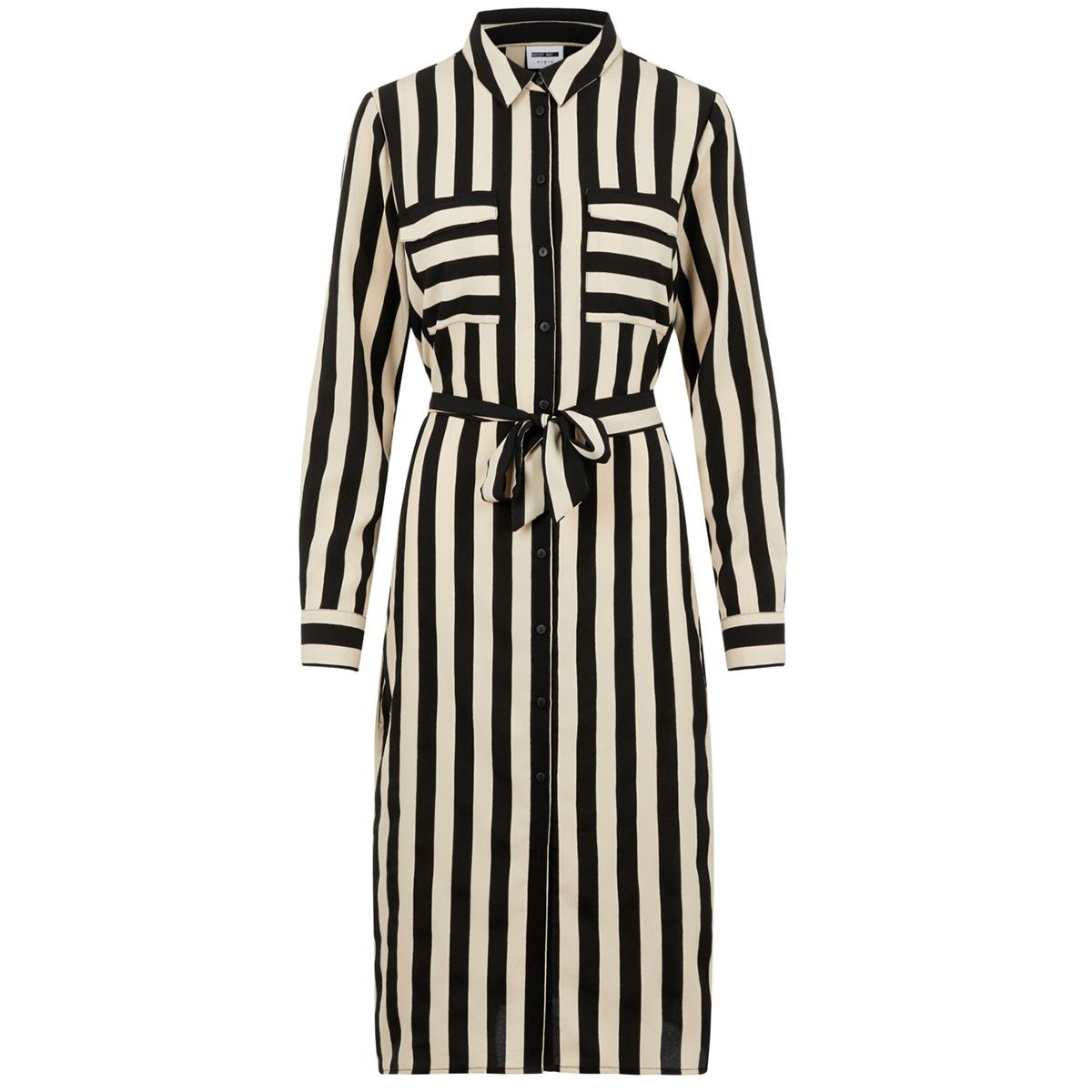 nmwill l/s shirt dress 27009802 noisy may jurk black/peynote