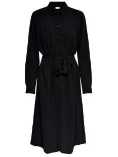 Jacqueline de Yong Jurk JDYPINTO L/S MIDI SHIRT DRESS WVN 15206439 Black
