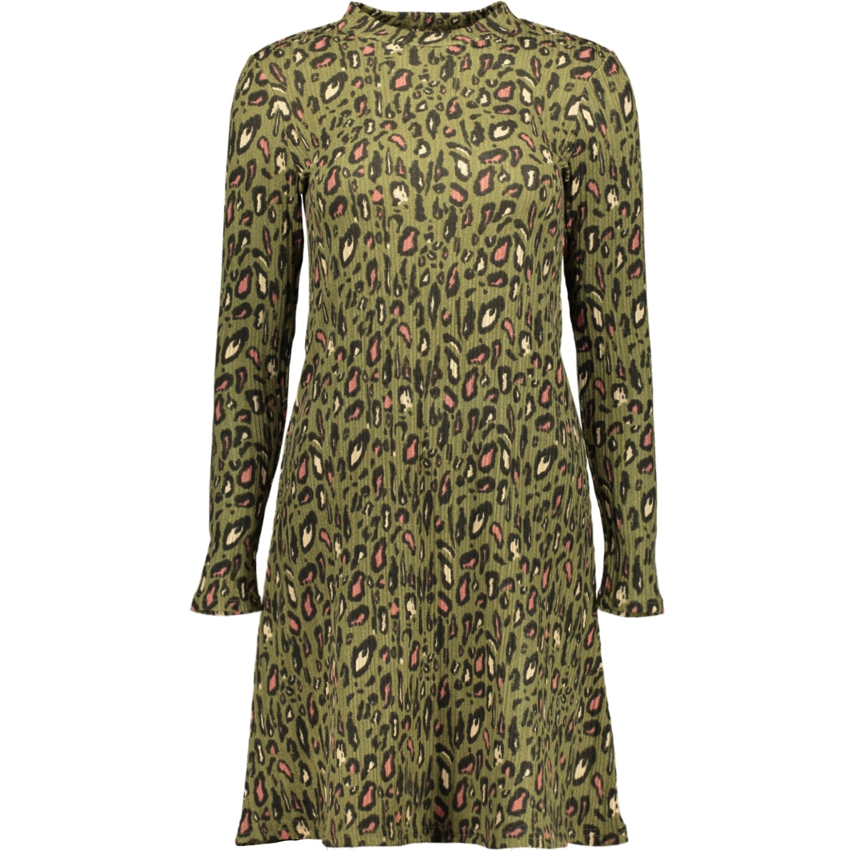 onllea l/s dress jrs 15193152 only jurk martini olive/cool leo 2