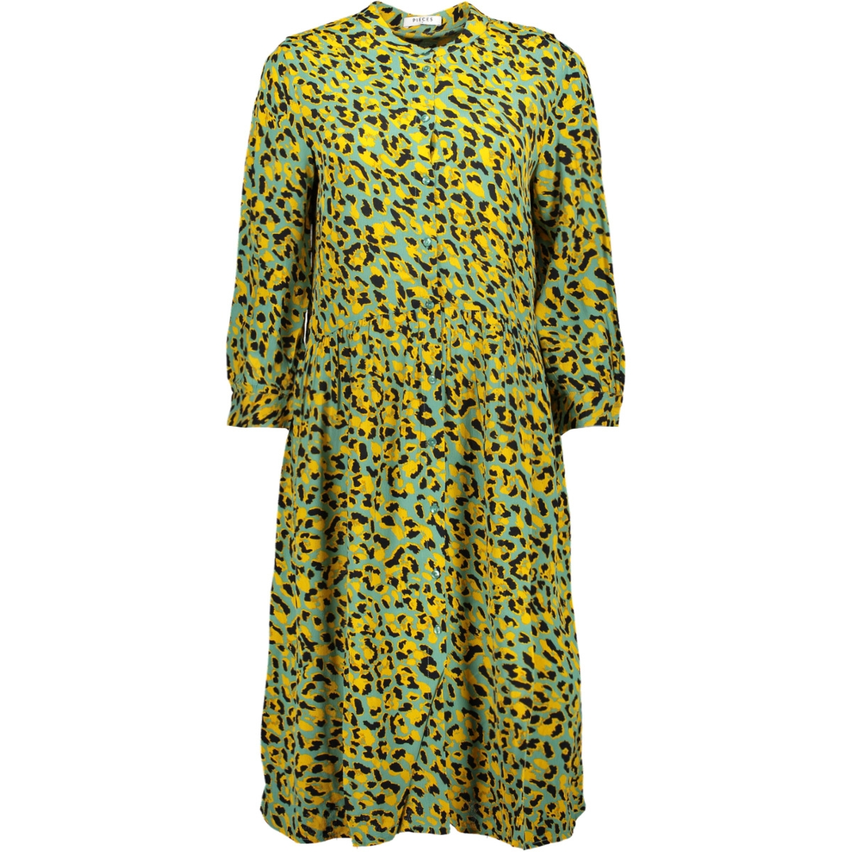 pcjexa 3/4 shirt dress if 17102342 pieces jurk feldspar/leo