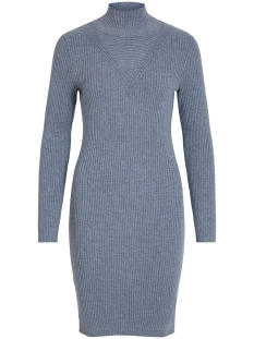 Vila Jurk VIANDENA KNIT FUNNEL NECK L/S DRESS 14055427 China Blue