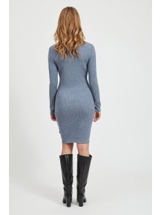viandena knit funnel neck l/s dress 14055427 vila jurk china blue