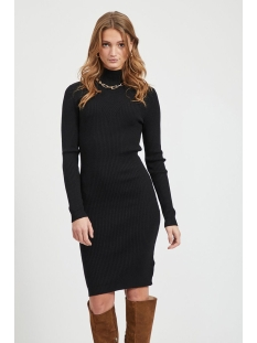 Vila Jurk VIANDENA KNIT FUNNEL NECK L/S DRESS 14055427 Black