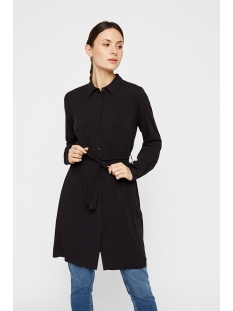 pckaitlyn ls shirt dress bf 17102255 pieces jurk black/solid