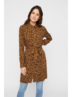 Pieces Jurk PCKAITLYN LS SHIRT DRESS BF 17102255 Toasted Coconut/ANIMAL