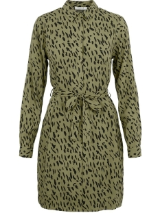 Pieces Jurk PCKAITLYN LS SHIRT DRESS BF 17102255 Deep Lichen Green/ANIMAL