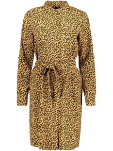 Vero Moda Jurk VMLOUISA L/S ABK SHIRT DRESS 10229476 Meerkat/LEA