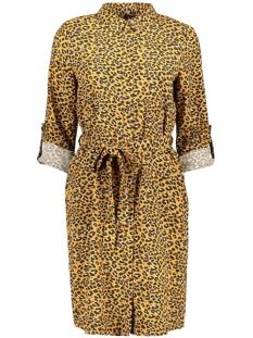 vmlouisa l/s abk shirt dress 10229476 vero moda jurk meerkat/lea