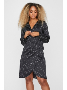Vero Moda Jurk VMGAMMA L/S WRAP DRESS SB2 10230491 Black/DOTS